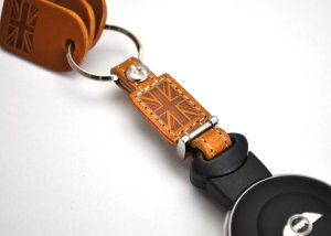 Photo5: buzzhouse design BMW MINI handmade leather Key ring Cover R55,R56,R57,R58,R59,R60 Camel (Made in Japan)