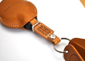 Photo2: buzzhouse design BMW MINI handmade leather Key ring Cover R55,R56,R57,R58,R59,R60 Camel (Made in Japan)