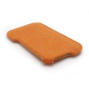 Photo5: buzzhouse design Handmade felt case for iPhone 6 Orange (Made in Japan)