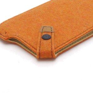 Photo4: buzzhouse design Handmade felt case for iPhone 6 Orange (Made in Japan)