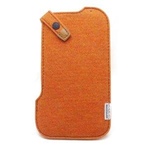 Photo2: buzzhouse design Handmade felt case for iPhone 6 Orange (Made in Japan)