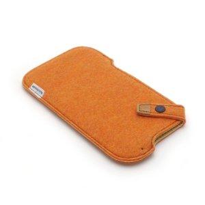 Photo1: buzzhouse design Handmade felt case for iPhone 6 Orange (Made in Japan)